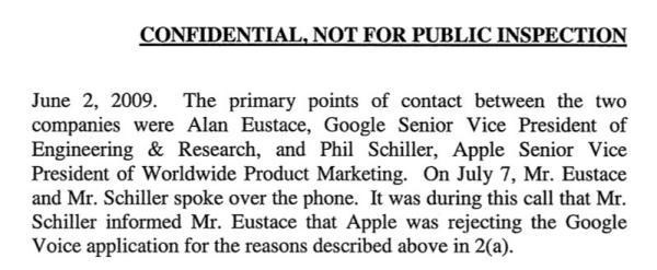 Google says Phil Schiller himself rejected Google Voice from the App Store
