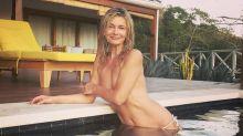 Paulina Porizkova shares sultry vintage vacation photo from quarantine: 'Topless is my favorite bikini'