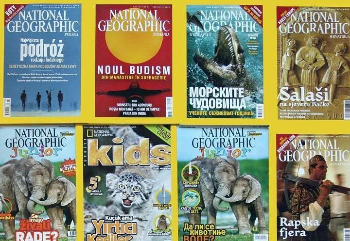 The iconic National Geographic magazine published in several languages (AFP Photo/)