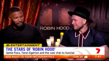Taron Egerton and Jamie Foxx chat new 'Robin Hood'