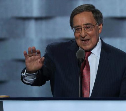Watch Delegates Chant 'No More War' During Leon Panetta's Speech