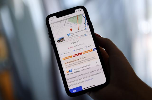 Google Maps may offer routes connecting bikes and cars to public transit