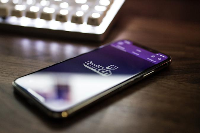 Twitch on an iPhone X