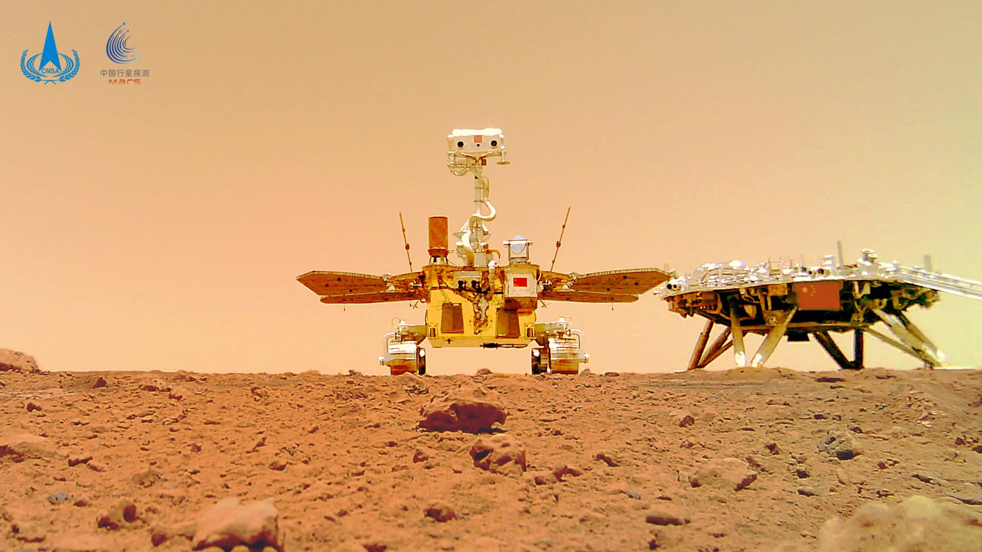 China Zhurong Mars rover selfie