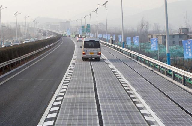 Thieves swipe a portion of China's solar road
