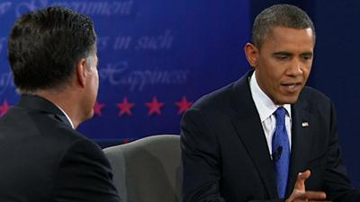 Analysis: Combative Obama finds subdued Romney
