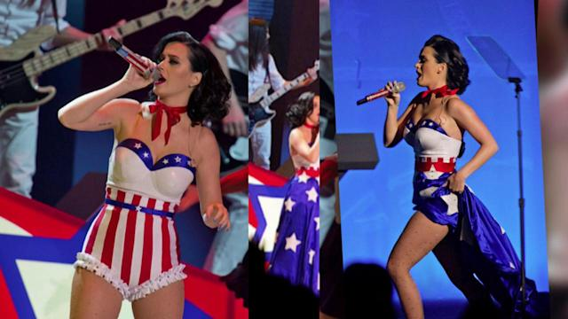 Katy Perry Wows in an American Flag Outfit at Kids' Inaugural Concert