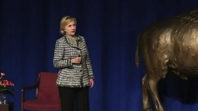 Hillary Clinton faces Benghazi heckler