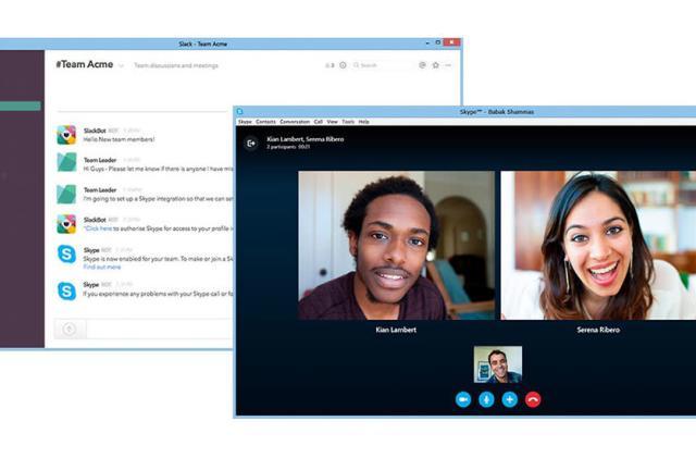 Skype makes it easy to start work calls in Slack
