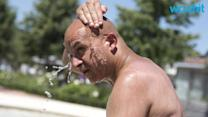 Europeans Try To Beat Crazy Heat Every Way They Know How