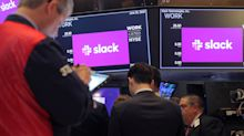 Slack shares on the rise for second day of trading
