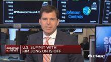 Stocks slide on North Korea summit cancellation