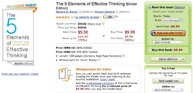 Amazon quietly introduces Kindle rentals for US readers, bases prices on duration (updated)