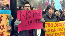 Ontario students protest over government's plans to cut tuition