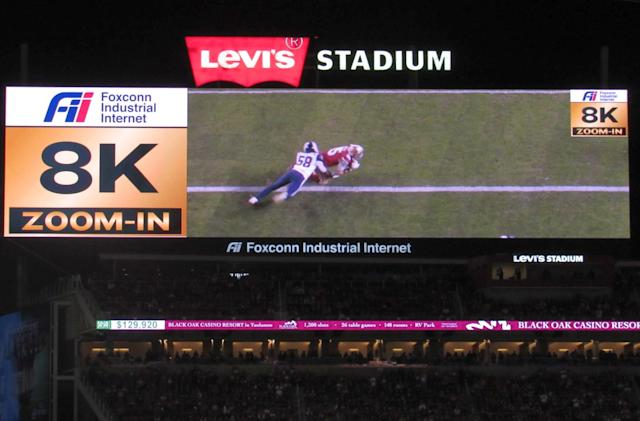 San Francisco 49ers unveil the first in-stadium 8K replay system