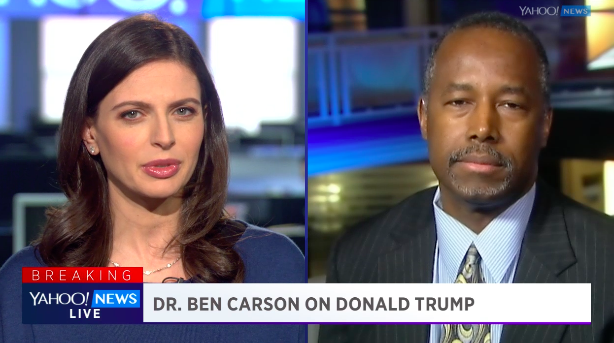 Yahoo news - Carson On Trump Comparing Him To A Child Molester It Did Work Video
