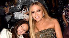 Jennifer Lopez's daughter Emme, 11, joins her on stage wearing matching outfit for sweet duet