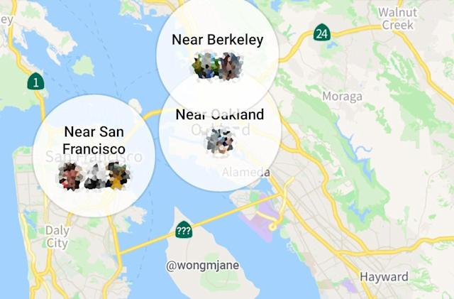 Facebook tests Snapchat-like map for Nearby Friends