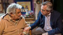 """El mensaje de Alberto Fernández por el retiro de Pepe Mujica: """"Nunca te vas; siempre estás presente y sembrando futuro"""""""