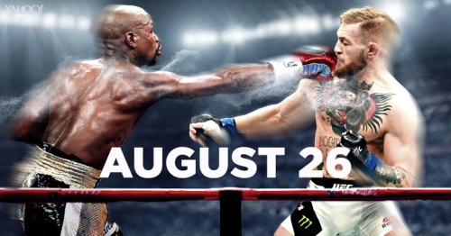 Floyd Mayweather (L) and Conor McGregor will meet in the ring on August 26. (Yahoo Sports illustration)