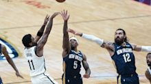 Irving leads short-handed Nets past Pelicans, 134-129