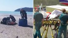 Young shark attack victim's brave gesture to rescuers