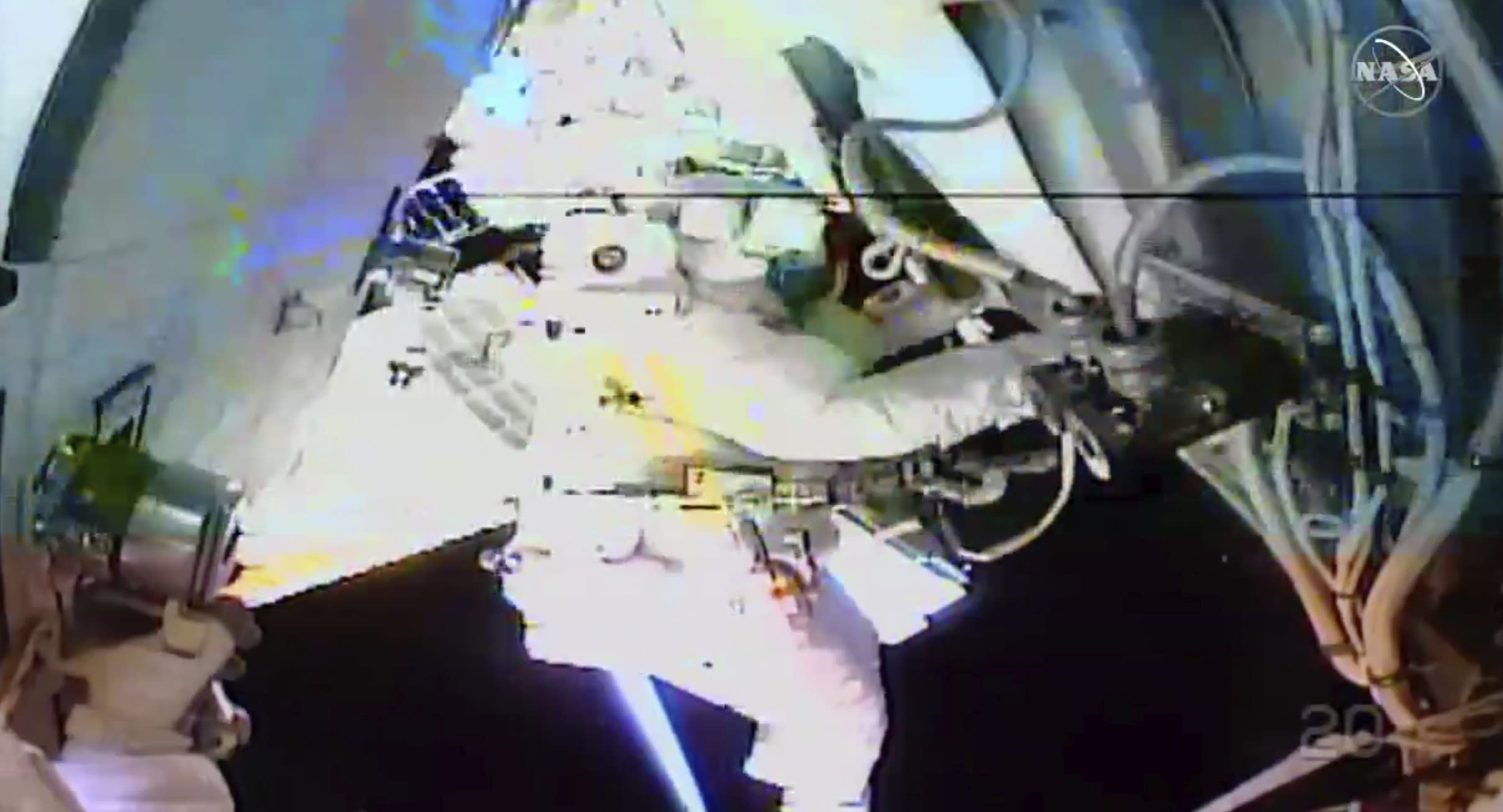 NASA astronauts conduct their third spacewalk in 3 weeks