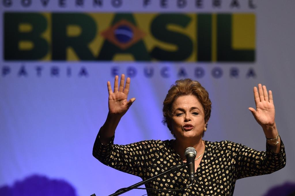 Dilma Rousseff's opponents only need a simple majority of the 81 senators' votes to open an impeachment trial (AFP Photo/Evaristo Sa)