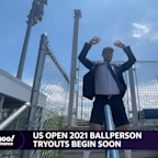 Brian Sozzi bounces into action at the US Open Ballperson tryouts