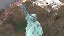 Sandy damage to Statue of Liberty, Ellis Island