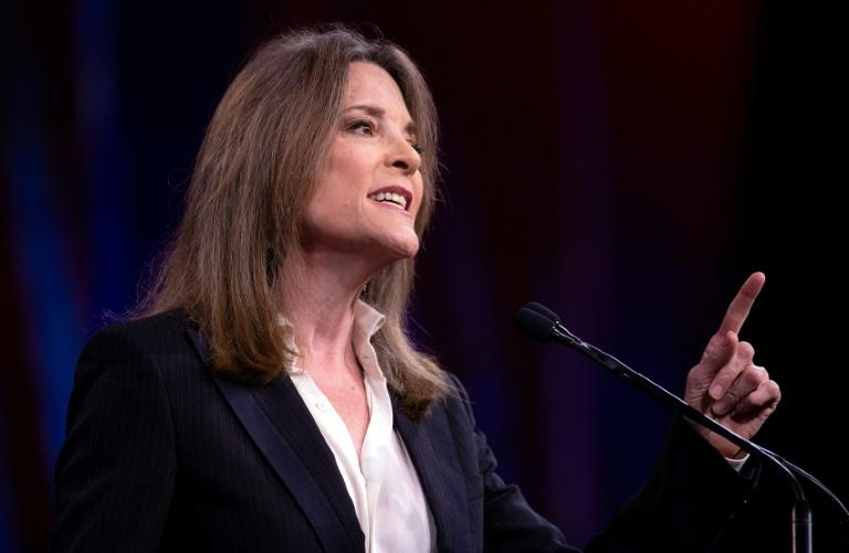 "US 2020 Democratic presidential hopeful and self-help author Marianne Williamson suggested that ""the power of the mind"" could alter the path of Hurricane Dorian"
