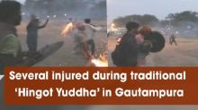 Several injured during traditional 'Hingot Yuddha' in Gautampura