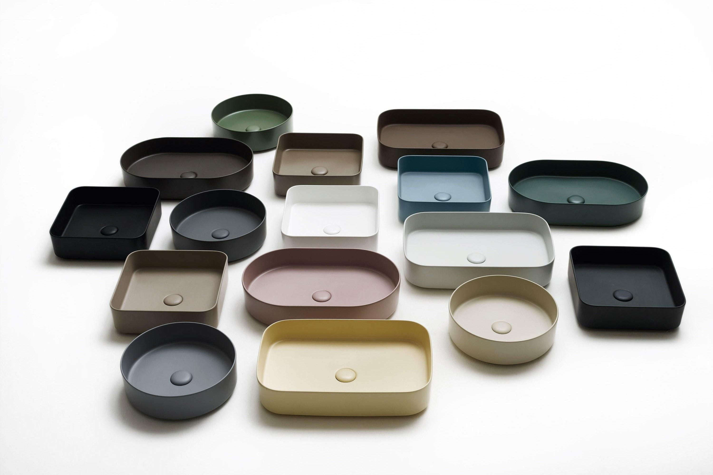 "Colorful basins are only the tip of the iceberg at Milan-based Ceramica Cielo—the company also sells freestanding vanities in bold hues, if you're interested. But we were drawn to the minimalist vibe of this collection, called <a href=""https://www.ceramicacielo.it/en/products/shui+comfort"" rel=""nofollow noopener"" target=""_blank"" data-ylk=""slk:Shui Comfort"" class=""link rapid-noclick-resp"">Shui Comfort</a>, which features ""the world's thinnest ceramic"" in elegant, matte shades. Good news: Cielo's New York flagship opens this summer. In the meantime, purchase a Cielo sink through Miami-based Disegno Agency by emailing info@disegno-agency.com. SHOP NOW: Shui Comfort Ceramic Washbasin by Ceramica Cielo, from $1,400"