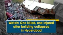 Watch: One killed, one injured after building collapsed in Hyderabad