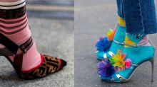 小投資大增值!街頭高手將襪子和高跟鞋穿搭出流行時尚