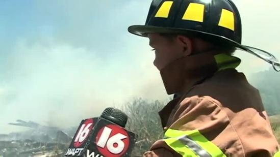 4-year-old shows off firefighting skills