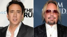 Nicolas Cage Caught Screaming at Vince Neil in Las Vegas