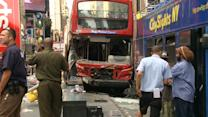 Fifteen people injured in Times Square bus collision