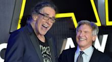 Harrison Ford dedicates new 'Star Wars' ride to late Chewbacca actor Peter Mayhew