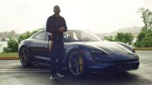 Will Smith takes unexpecting Lyfters for a spin in a Porsche Taycan