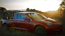 See how this YouTube star cut her Tesla Model 3 into a pickup truck