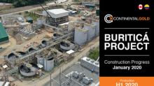 Continental Gold Provides Buriticá Project Update: Mill Facilities Mechanical Completion nears 90 percent