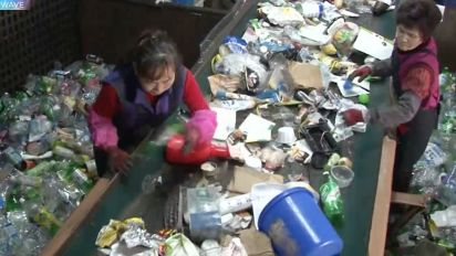 This woman is dedicated to recycling garbage
