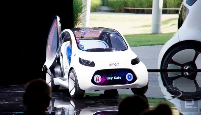 El Mercedes Smart Vision EQ es enano, autónomo y vas a tener que compartirlo