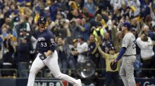 Reliever Woodruff's homer stuns Kershaw, Brewers take Game 1