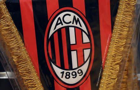 Flâmula do Milan em loja de Milão