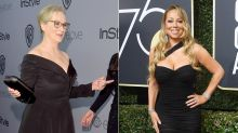 Meryl Streep Talks Mariah Carey's Golden Globes Gaffe: 'B**ch Stole My Seat!'