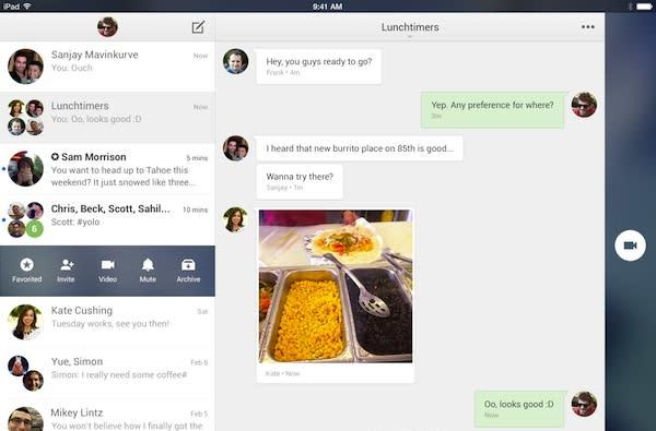 Google Hangouts 2.0 for iOS redesigned with iPad tweaks, 10-second video messages