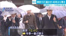 【有片】日本氣溫急降 東京今朝12.4度