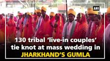 130 tribal 'live-in couples' tie knot at mass wedding in Jharkhand's Gumla